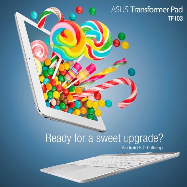 Android 5.0 Asus Transformer Pad TF103