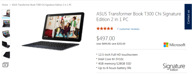 Asus Transformer Book T300 Chi On Sale
