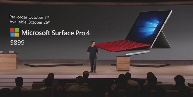 Microsoft Surface Pro 4 Launch October 26