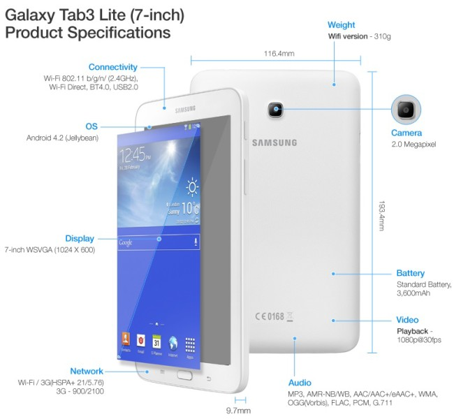 Cyber Monday deal Samsung Galaxy Tab 3 Lite