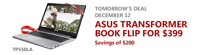 December Asus laptop deal