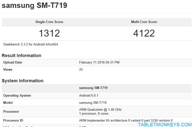 Samsung Galaxy Tab S LTE SM-T719