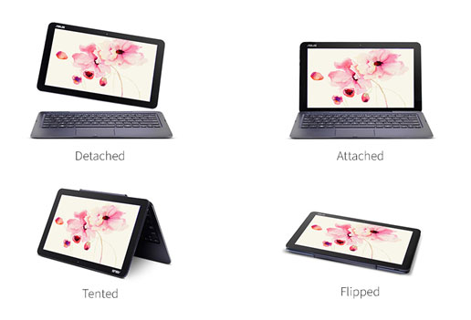 The 4 modes of the original Asus T100 Chi