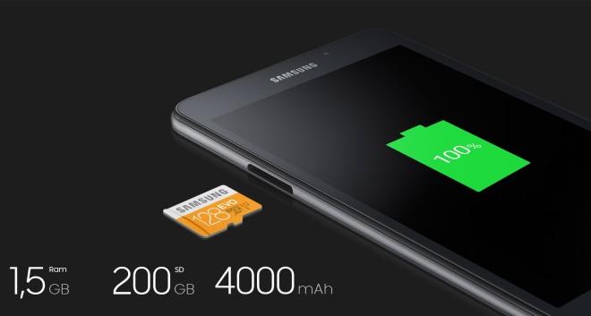 Samsung Galaxy Tab A 7.0 (SM-T280) 2016 Model 200GB storage