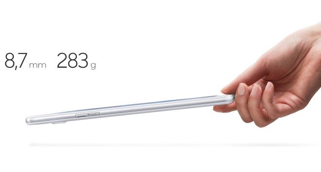 Samsung Galaxy Tab A 7.0 (SM-T280) 2016 Model thickness
