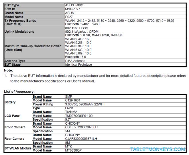 Asus ZenPad 9.7 (Z500M)