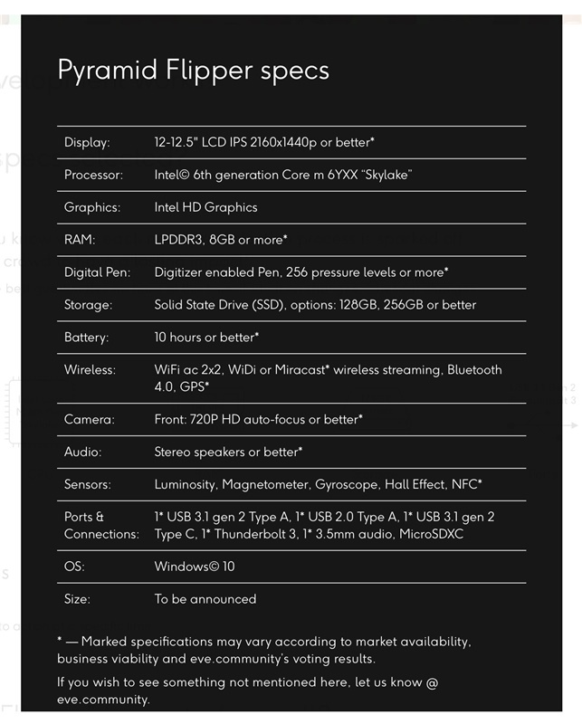 The first advisory specs