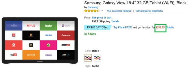 Samsung Galaxy View 18.4 Sale