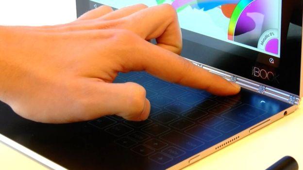 Lenovo Yoga Book invisible keyboard