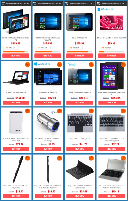 Chuwi tablet sale