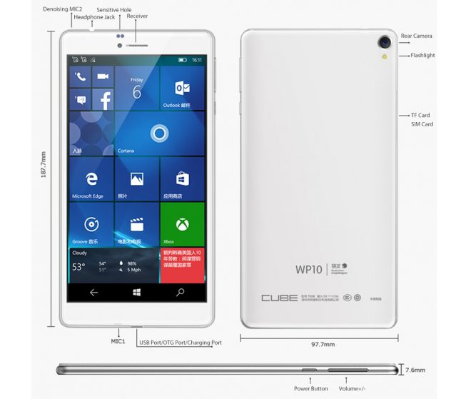 New 2016 Windows 10 Mobile 4G Phablet