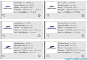 Samsung Galaxy Tab S3 SM-T820 SM-T827
