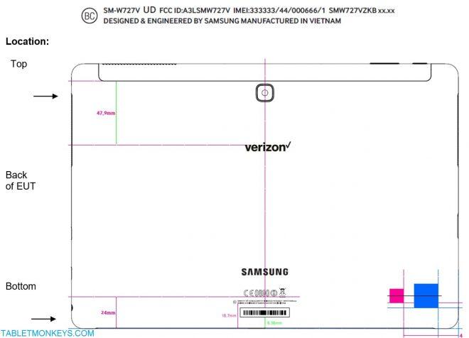 Samsung Galaxy TabPro S2 SM-W727 Verizon