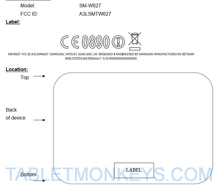 Samsung SM-W627 10 6-Inch Windows 10 Tablet (2-In-1) Leaks (Samsung