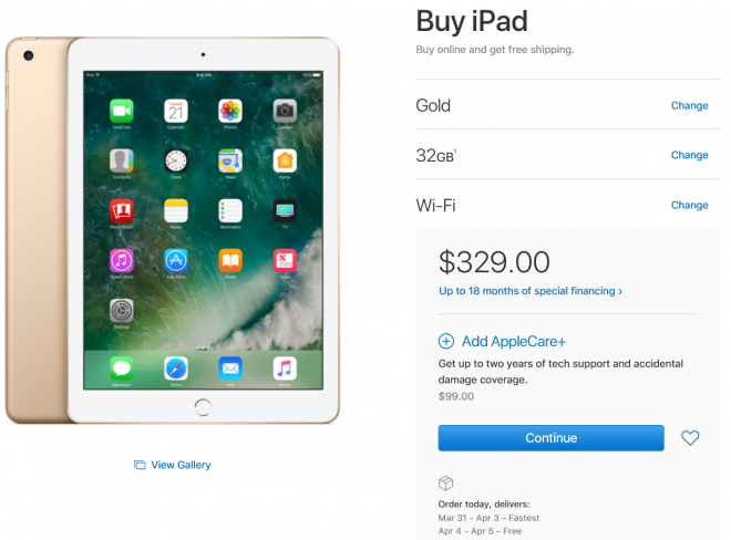 New Apple Ipad 9 7 Starts Taking Orders Today Release Date March 31