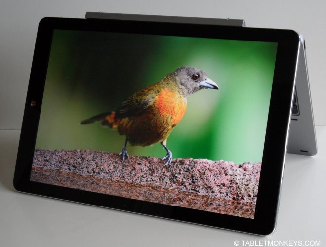 Chuwi Hi13 Review  - 3000 x 2000 Windows tablet in tent mode