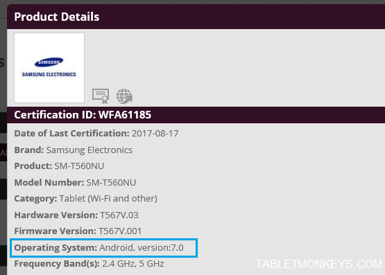 Android 7 0 Nougat Update Certified For Samsung Galaxy Tab E
