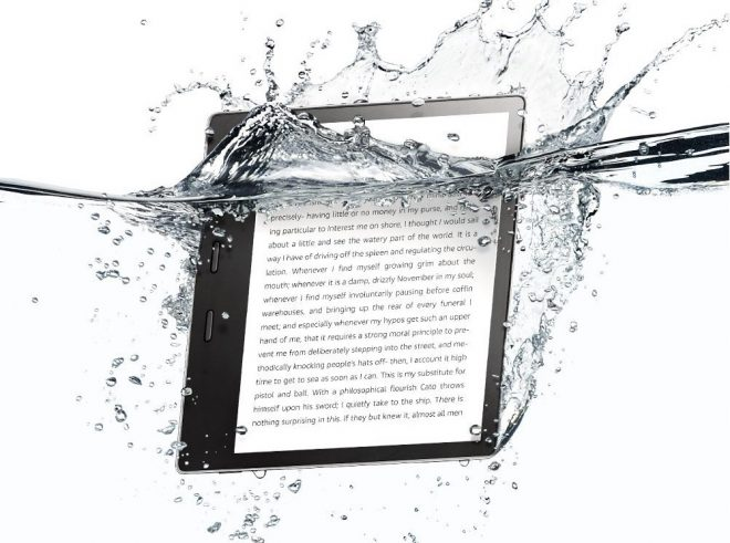 Waterproof ereader Kindle Oasis