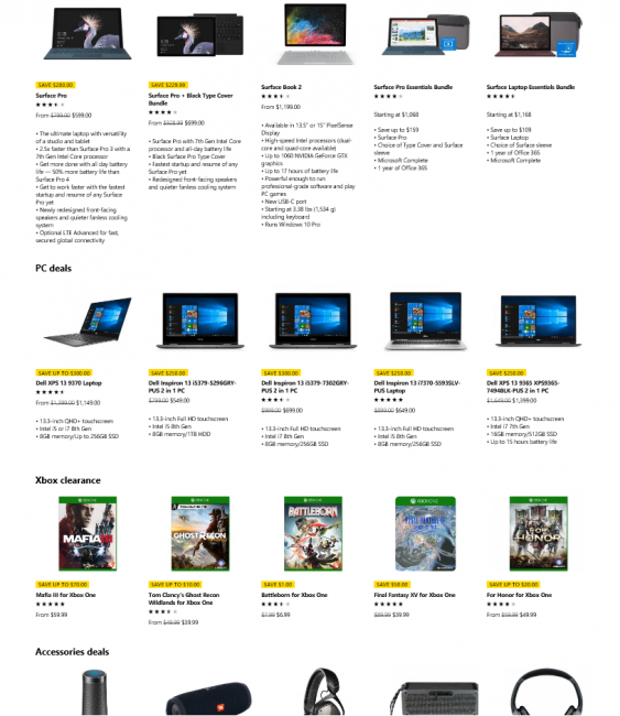 Surface Sale February 2018