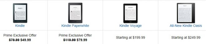 Kindle E-Readers Lowest Price