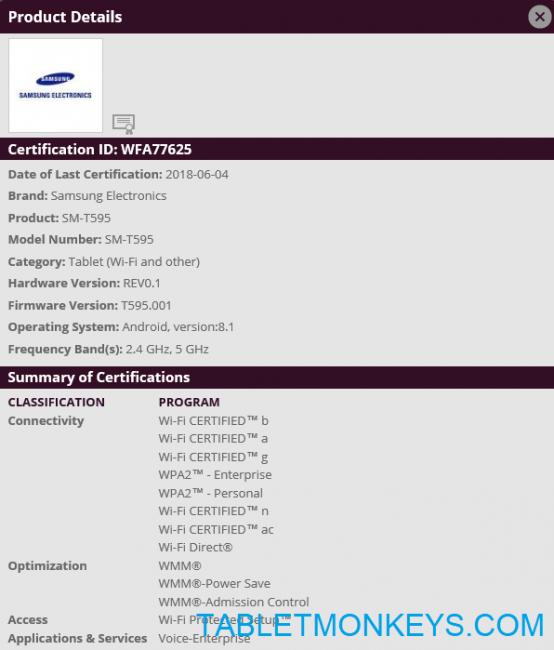 Samsung (SM-T595/SM-T590