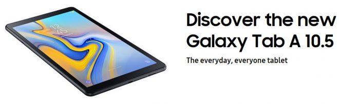 Samsung Galaxy Tab A 10.5 Release