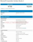 Microsoft Surface Studio 2 Benchmark Scores