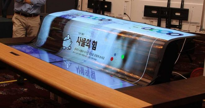 LG's largest flexible OLED display