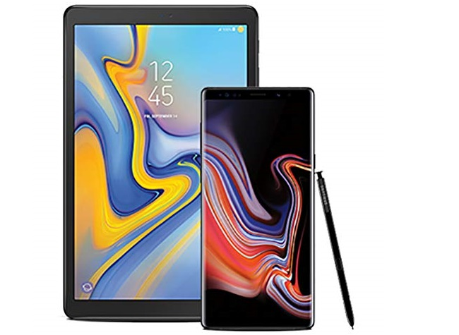 Samsung Galaxy Tab A 10.5 + Samsung Galaxy Note 9 bundle