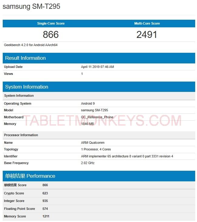 New Samsung Galaxy Tab 7.0 2019 SM-T290 SM-T295
