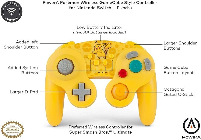 Powera Pokemon Wireless Gamecube Controller Launch June 20th