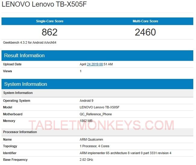 Lenovo Tab M10 benchmarks