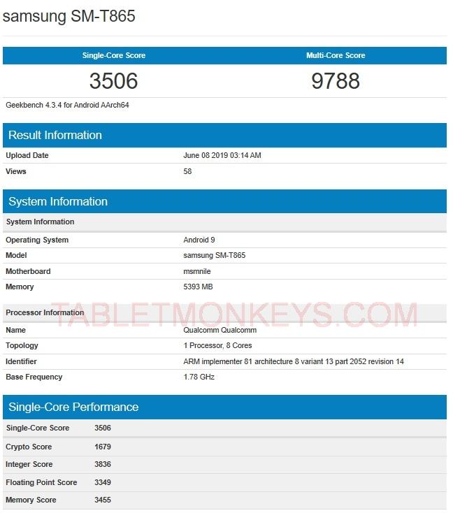 Samsung Galaxy Tab S6 Benchmarks