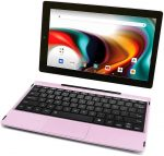 RCA 11 Delta Pro - pink tablet with Android and keyboard
