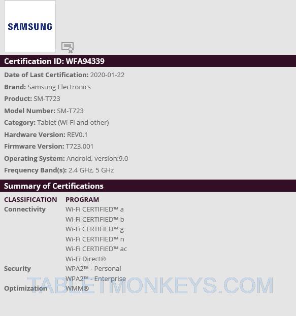 Samsung SM-T723 Tablet