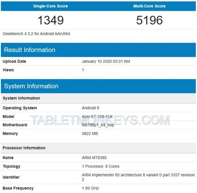 Acer A9001 aka Acer Enduro T1