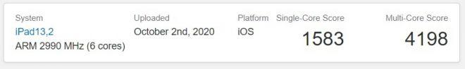 Apple iPad Air 4 Benchmarks