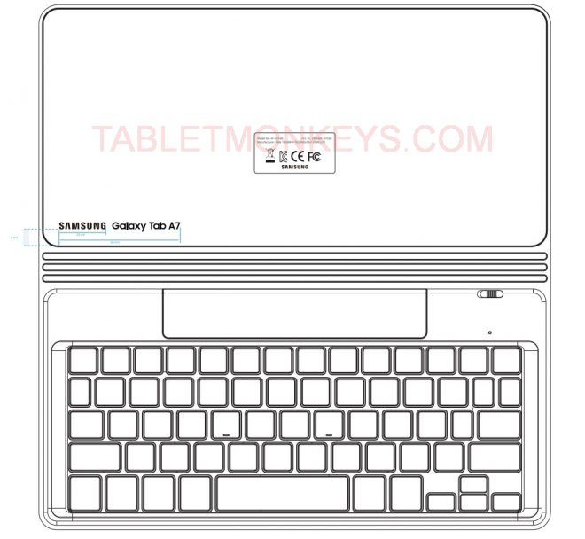 Samsung Galaxy Tab A7 Keyboard