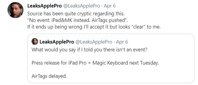 iPad Pro 2021 launch date
